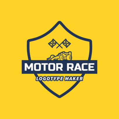 Racing Logo Maker for a Motor Race 1645d