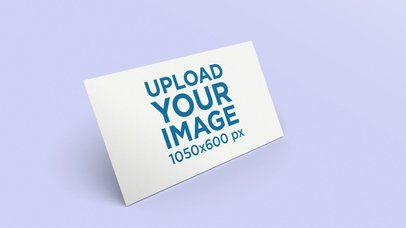 Business Card Mockup over a Custom Flat Background 25036