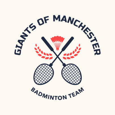 Badminton Logo Maker for a Pro Badminton Team 1630