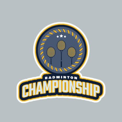 Badminton Logo Maker for a Pro Badminton Championship 1628b