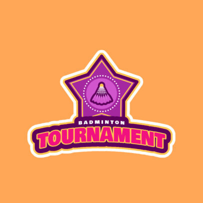 Professional Badminton Logo Maker for a Badminton Tournament 1628d