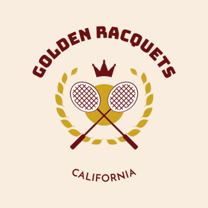 Badminton Club Logo Maker with Crown Clipart 1630b