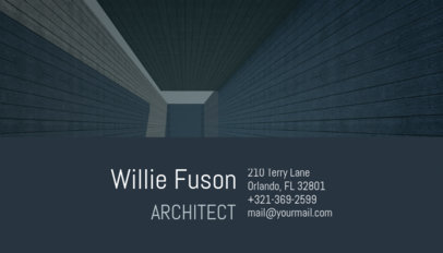 Architect Business Card Maker with Building Designs 182d