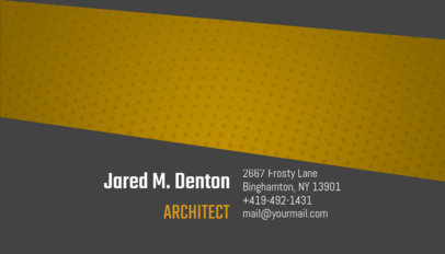 Creative Business Card Maker for Architects 182c