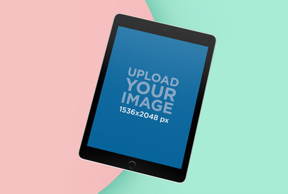 iPad Air 2 Mockup with a Colorful Background 25048