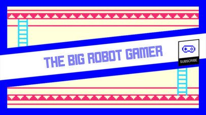 YouTube Banner Maker for a Gaming Channel 393a