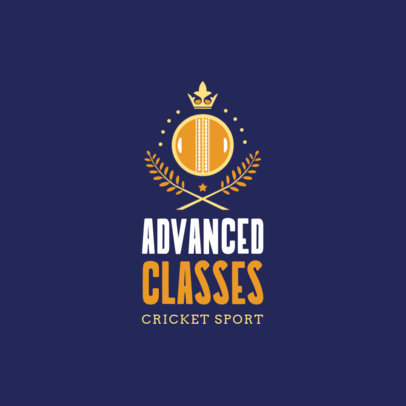Cricket Logo Maker for Advanced Cricket Classes 1653a