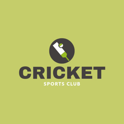 Simple Cricket Logo Maker 1653d