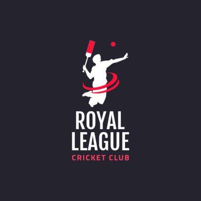 Cricket Logo Design Maker for a Cricket League 1653e