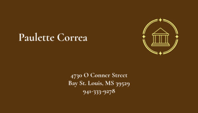 Business Card Design Template with Law Graphics 348c
