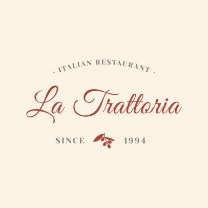 Italian Restaurant Logo Design Template 1660