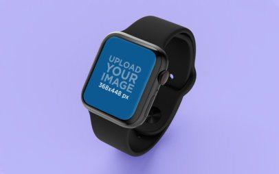 Apple Watch Mockup on a Flat Custom Background 25070