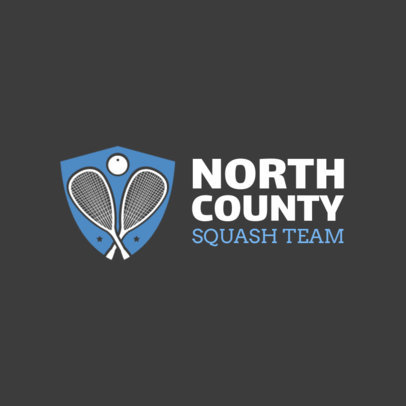 Squash Team Logo Maker 1633a