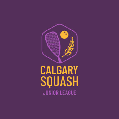 Squash Logo Maker for a Local Squash Team 1633b