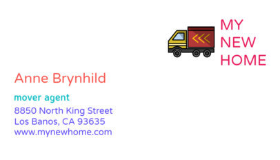 Minimalistic Business Card Maker for a Moving Company 325b