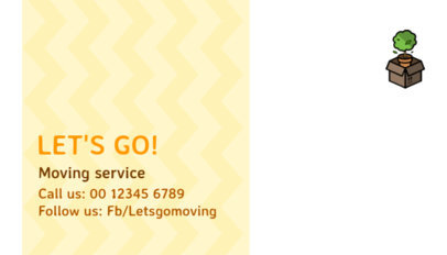 Simple Moving Company Business Card Maker 325c