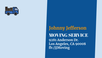 Business Card Maker for Moving Services 325e