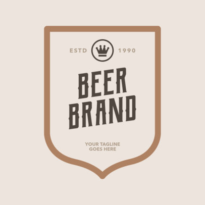 Beer Logo Maker with Frame 1658