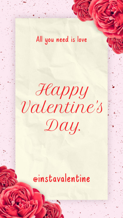 Instagram Story Template for Valentine's Day 1042
