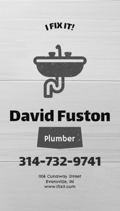 Business Card Template for Plumbers and Handymen 82b