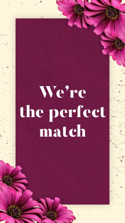 Valentine's Day Instagram Story Template with Flower Images 1042c