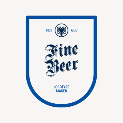 Minimalist Brewery Logo Maker for Fine Beer 1658c