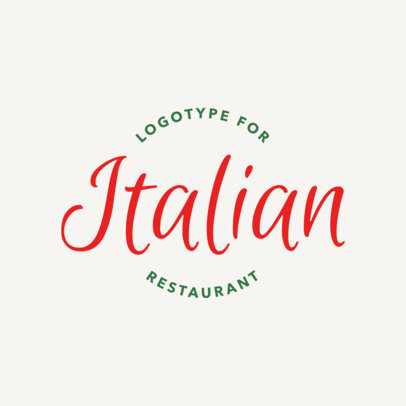 Pasta Restaurant Logo Maker with Calligraphy Font 1662