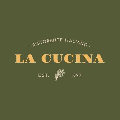 Fancy Pasta Restaurant Logo Maker 1660a
