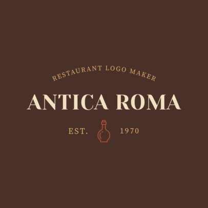 Italian Food Logo Maker with Olive Oil Graphics 1660c