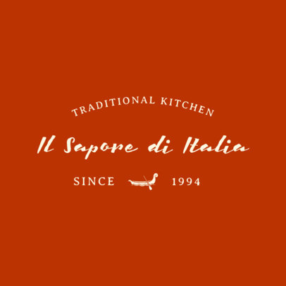 Traditional Italian Food Logo Template 1660d