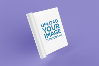 Mockup of a Folded Magazine on a Solid Surface 25079