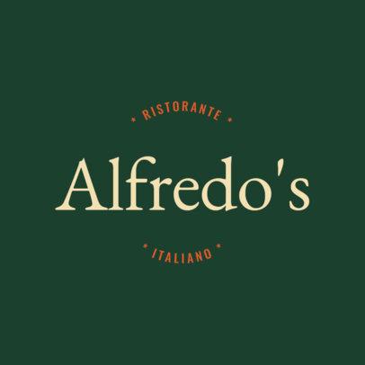 Italian Food Logo Design Template with Simple Design 1662d