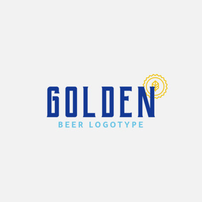 Brewery Logo Design Maker for a Beer Brand 1656a