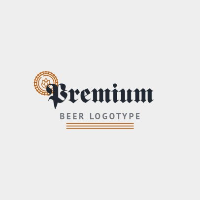 Brewery Logo Maker for Premium Beer with Minimalist Design 1656c