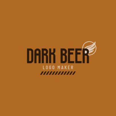Craft Beer Logo Maker for Dark Beer 1656d