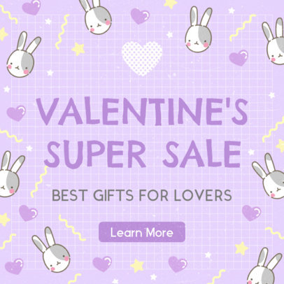 Ad Banner Maker for a Valentine's Super Sale 1051a