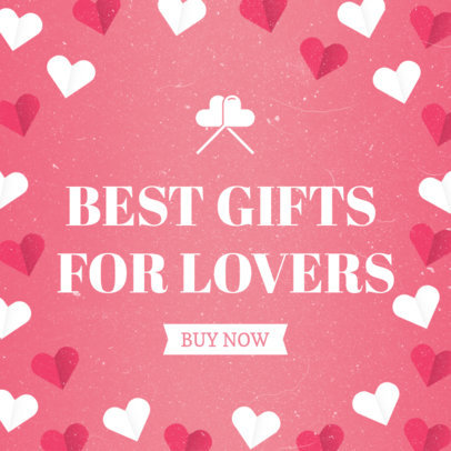Online Banner Maker for a Lovers' Gift Promotion 1051d