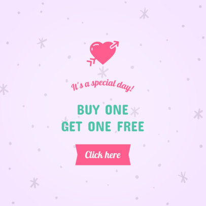 Ad Banner Maker for a Valentine's Day 2x1 Promo 1050e