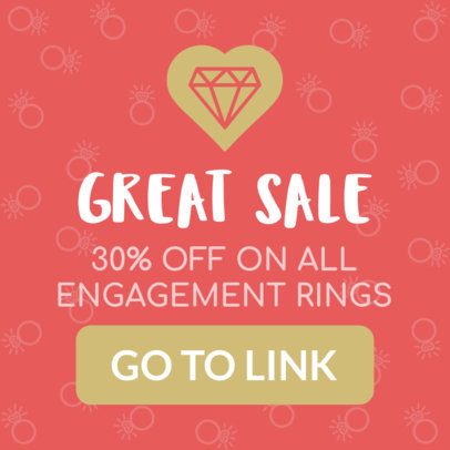 Valentine's Day Banner Maker for an Engagement Ring Sale 1048e