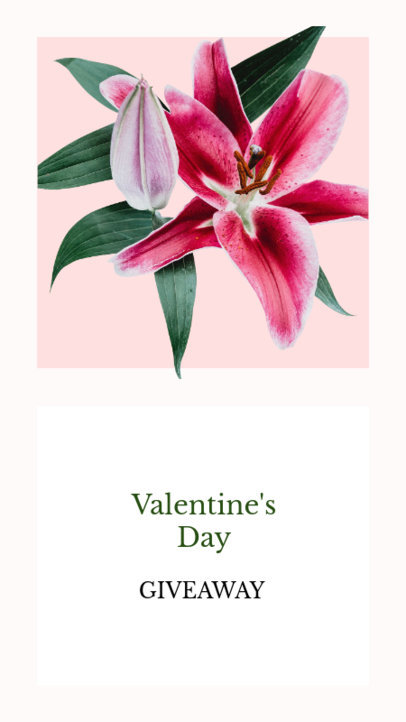 Minimalistic Instagram Story Maker for a Valentine's Day Giveaway 1046d