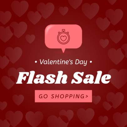 Banner Maker for a Valentine's Day Flash Sale 1056e