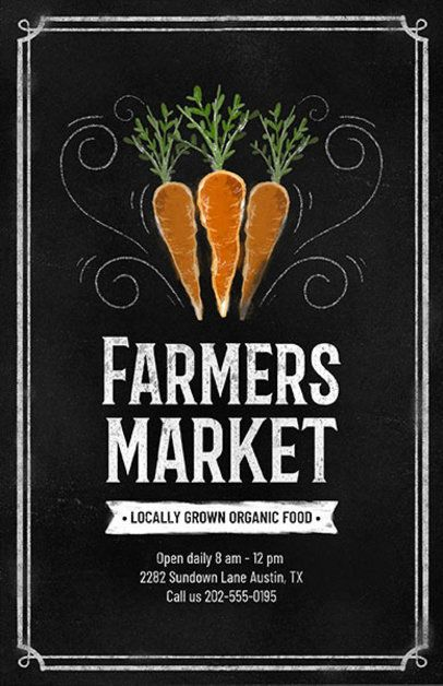Flyer Design Template for a Farmers' Market 265