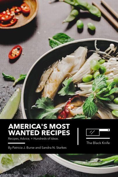 Cookbook Cover Design Template for a Recipe Book 908