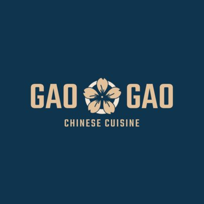 Chinese Food Logo Maker with a Minimalist Design 1669c