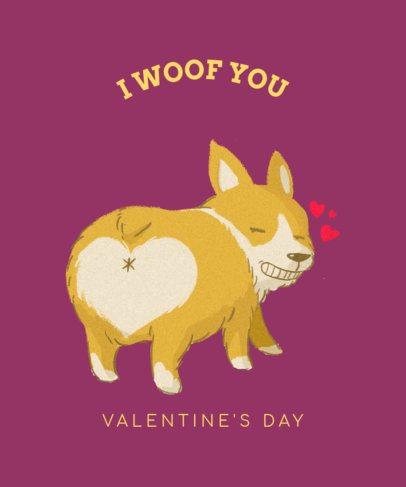 Lovely T-Shirt Design Template for Valentine's 1039c