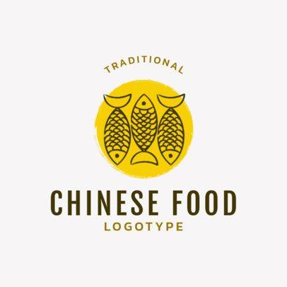 Traditional Chinese Restaurant Logo Maker 1666c