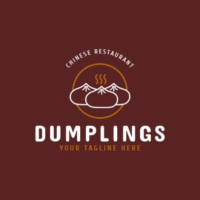 Chinese Food Logo Maker for a Dumpling Restaurant 1666e