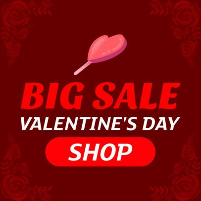 Big Valentine's Day Sale Banner Maker 1049c
