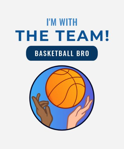 T-Shirt Design Maker for Basketball Bros 906d