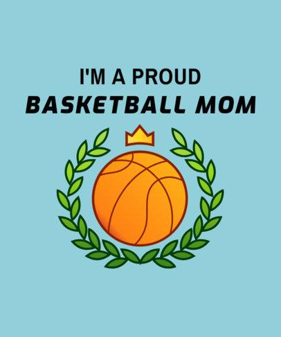 Basketball Mom T-Shirt Design Maker 906e